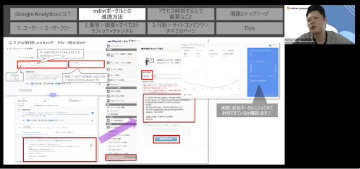 millvi ポータル x Google Analytics」の活用方法2