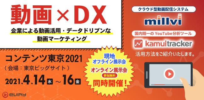 コンテンツ東京2021 エビリーオンライン展示会